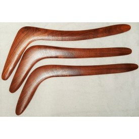 Hooked hunting boomerang - black wattle timber